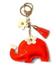 EZ Life Cute Elephant Shape Keychain - Orange