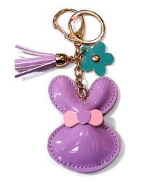 EZ Life Cute Bunny Shape Keychain - Lilac Purple