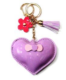 EZ Life Cute Heart Shape Keychain - Lilac Purple