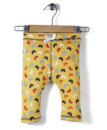 Jute Baby Butterfly Print Leggings - Yellow