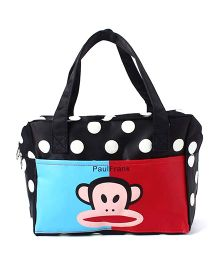 EZ Life Monkey Print & Polka Dots Carry Bag - Multicolour