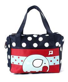 EZ Life Elephant Print & Polka Dots Carry Bag - Multicolour