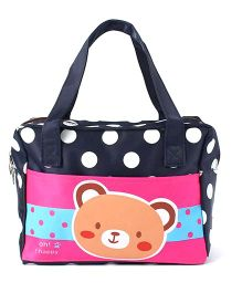 EZ Life Bear Print & Polka Dots Carry Bag - Multicolour