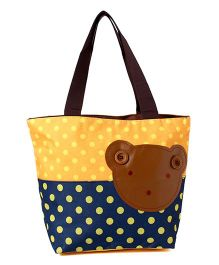 EZ Life Bear Print Carry Bag - Yellow & Blue