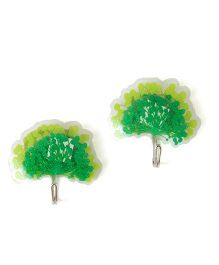 EZ Life Pack Of 2 Peacock 3D Hook - Green