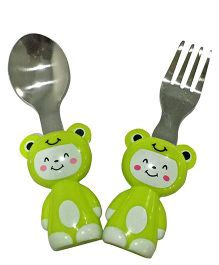 EZ Life Cat Cutlery Set - Green