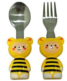 EZ Life 2 Piece Bee Cutlery Set - Yellow