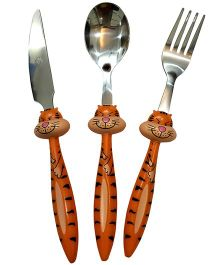 EZ Life 3 Piece Tigger Cutlery Set - Orange