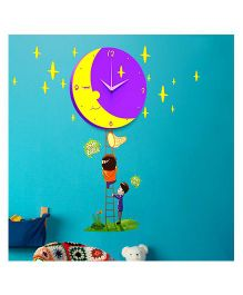 EZ Life DIY Munchkin Moon Clock Set - Violet & Yellow