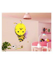 EZ Life DIY Buzzing Honeybee Clock Set - Yellow