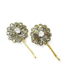 Accessory Funk Rhine Stone Hair Clip - Golden
