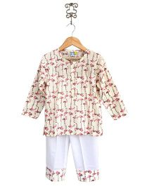 Frangipani Kids Flamingo Pond Nightwear Set - Multicolour