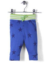 Jute Baby Star Print Track Pants - Royal Blue