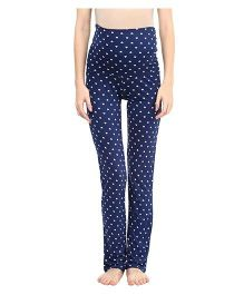 Mamacouture Heart Print Maternity Pajamas Blue - Small
