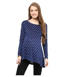 Mamacouture Printed Maternity Top Blue - Small