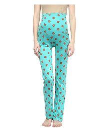 Mamacouture Heart Print Maternity Pajamas Green - Medium