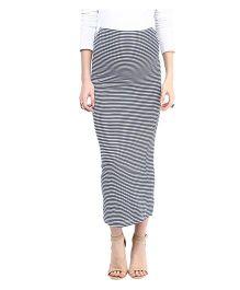 Mamacouture Maternity Stripe Skirt Blue - Medium