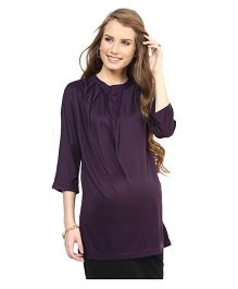 Mamacouture Must Have Maternity Top - Burgundy