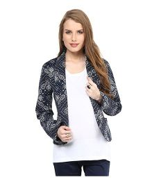 Mamacouture Maternity Printed Day Jacket  - Blue