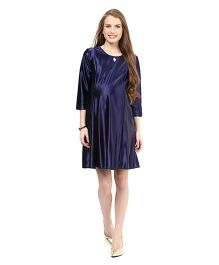 Mamacouture Maternity Party Dress - Navy Blue