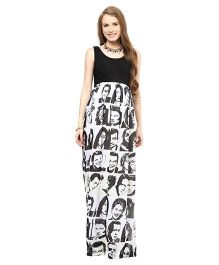Mamacouture Maternity Dress Icon Print - Black And White