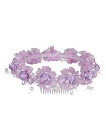 Cutecumber Head Tiara With Flower Motif - Purple