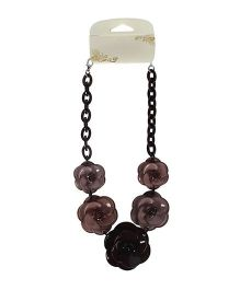 Cutecumber Necklace With Flower - Brown