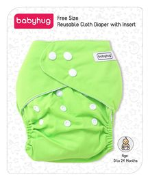 Babyhug Free Size Reusable Cloth Diaper With Insert - Lime Green