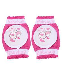 Babyhug Knee Protection Pads Baby Hearts 1 Pair - Pink