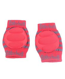 Babyhug Knee Protection Pads - Red & Grey