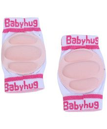 Babyhug Knee Protection Pads - White & Pink