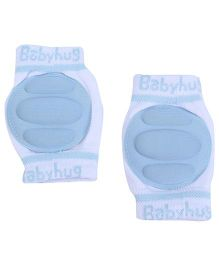 Babyhug Knee Protection Pads - White & Blue