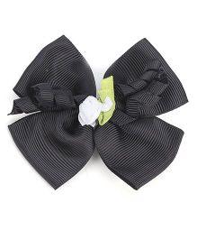 Stol'n Hair Clip Bow Design - Black