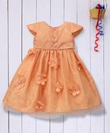 Pspeaches Fit & Flare Dress - Peach