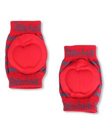Babyhug Knee Protection Pads Apple Design - Red & Grey