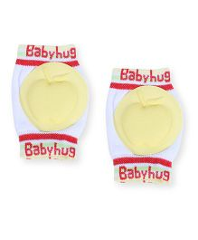 Babyhug Knee Protection Pads Apple Design - Yellow & White