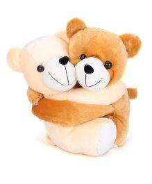 Liviya Love Pair Teddy Bear Soft Toy Brown & Cream - Height 13 Inches