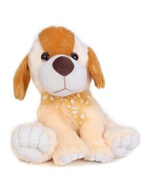 Liviya Sitting Puppy Soft Toy Peach - Height 10 inches