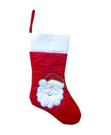 Little Pipal Christmas Santa Stocking - Red & White