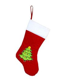 Little Pipal Christmas Tree Stocking - Red White Green
