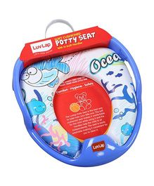 Luv Lap Blue Ocean Cushioned Potty Seat  Blue - 18194