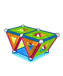Geomag Panels Glitter Construction Set - 44 Pieces