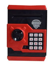 A2B Money Safe Coin Bank With Lock - Red And Black