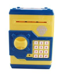 A2B Money Safe Coin Bank With Lock - Yellow And Blue