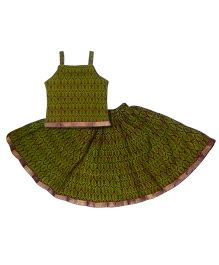 Kidcetra Traditional Lehenga Choli Set - Green