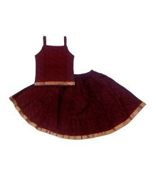 Kidcetra Traditional Lehenga Choli Set - Maroon