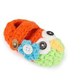 Jute Baby Handmade Crochet Booties  - Orange