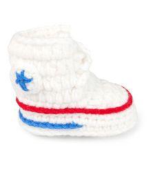 Jute Baby Handmade Crochet Booties - White