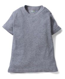 Babyhug Half Sleeves Plain Thermal Vest - Grey