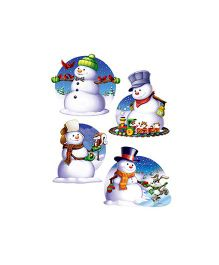 Planet Jashn Snowman Cut-outs - White and Blue